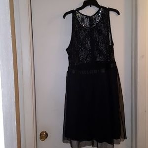Black Lace and tulle dress